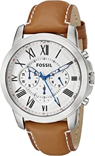 ساعة يد فوسيل جرانت للرجال - نظام انالوج مع سوار من الجلد - FS5060
