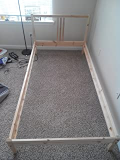 Ikea Twin Bed Frame Solid Wood with Headboard