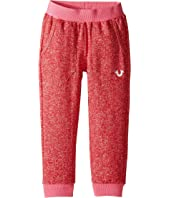 True Religion Kids - Mineral Wash Fleece Crop Pants (Toddler/Little Kids)