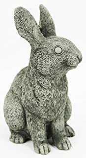 Fleur de Lis Garden Ornaments LLC Rabbit Concrete Statue Bunny Cement Figures Statue Carved Easter Animal Figurine