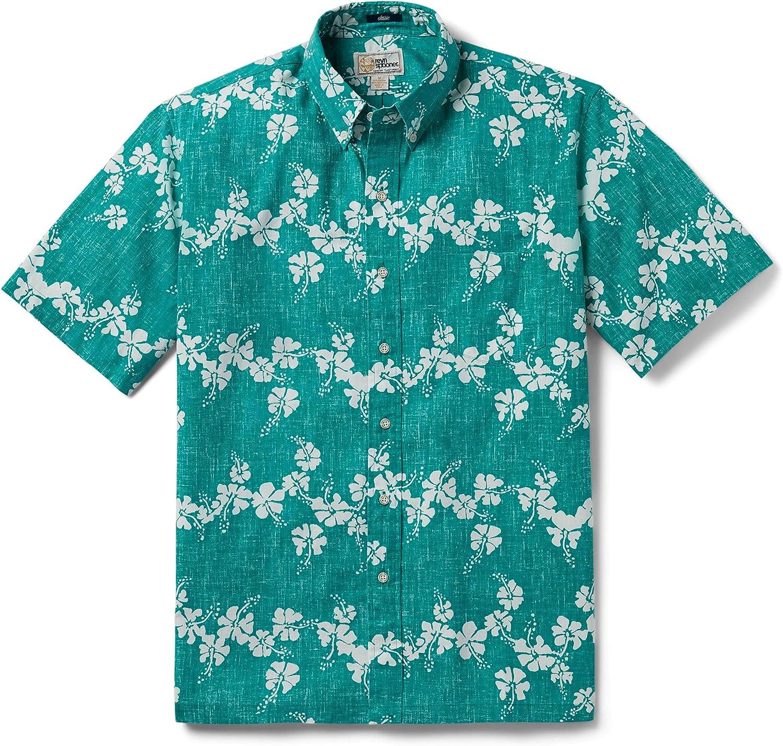 Reyn Spooner Men's 50th State Floral Hawaiian Aloha Shirt - Button Front