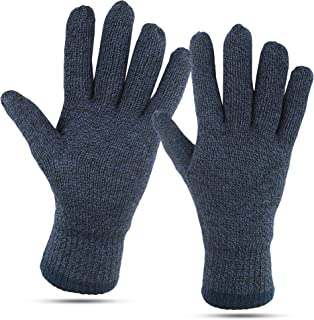 Winter Gloves For Men: Mens Cold Weather Heated Snow Glove: Men's Knit Thinsulate Thermal Insulation