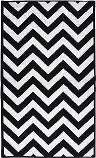 Garland Rug Chevron Area Rug, 5 by 7-Feet, Large, Black/White