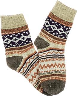 Pealu, 1 par de calcetines noruegos, tallas 33 – 40, gruesos, transpirables, algodón, calcetines de tenis, ocio, algodón