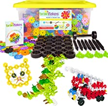 Brain Flakes 2500 Piece Build 'n' Build Kit - A Creative and Educational Alternative to Building Blocks - Wheel Pieces and...