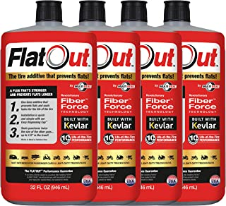 MULTI SEAL 99906 4-Pack FlatOut Tire Additive (Multi-Purpose Formula), for Boat Trailers, ATV/UTVs, Golf Carts, Dirt Bikes, Riding Lawn Mowers, Snow Blowers and More, 4 Pack