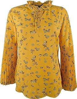LAUREN RALPH LAUREN Womens Plus Rimona Floral Print Long Sleeves Blouse