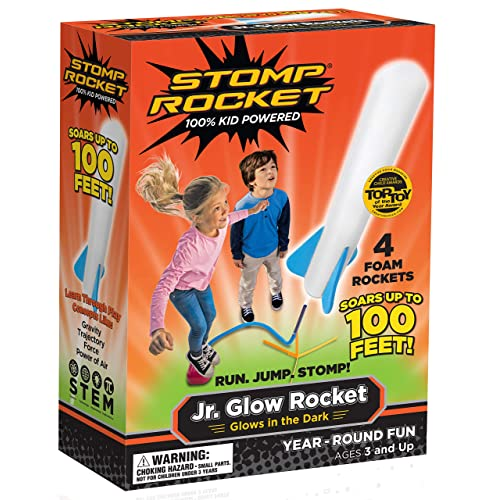 Stomp Rocket Jr Glow 4 Rockets And Toy Launcher