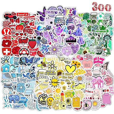 300PCS Pegatinas Encantador Girl Resistentes al Agua Stickers , Pegatinas Modernas Para Bicicleta, Monopatín, Snowboard, Equipaje, Portátil, MacBook iPad y Más