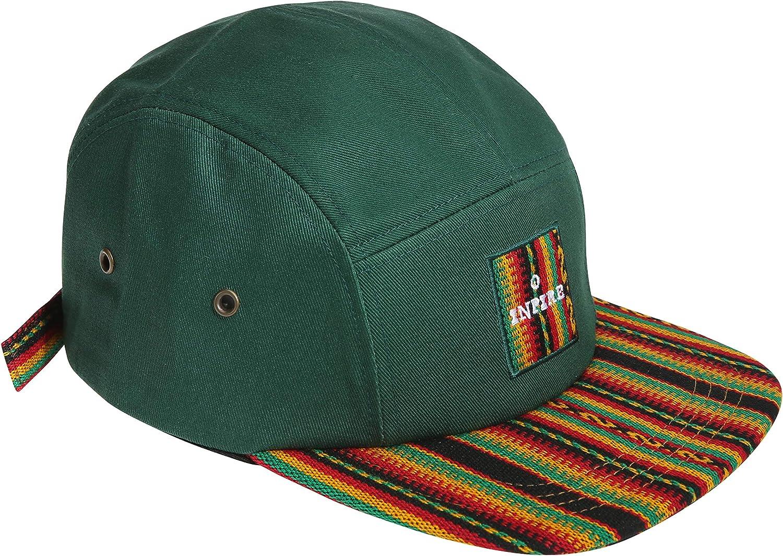 inpireco Men's Incan Fabric 5 Panel hat in 3 Colors