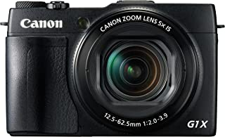 Canon Powershot G1X Mark II - Cámara compacta de 12.8 MP (Pantalla de 3 Zoom óptico 5X estabilizador Digital vídeo Full HD GPS a través de móvil WiFi) Negro