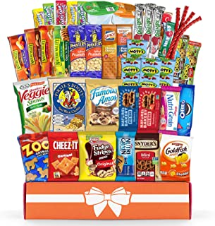 Variety Snack Care Package (45 Count) Gift Box for Teens - Fathers Day Goodie Food Arrangement for Dad - Birthday Candy Basket for Men, Women, Boys, Girls, Kid, Adult, College Student - Prime Delivery