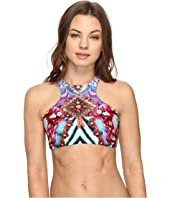 Luli Fama - Like a Flame Glam High Neck Engineered Reversible Top