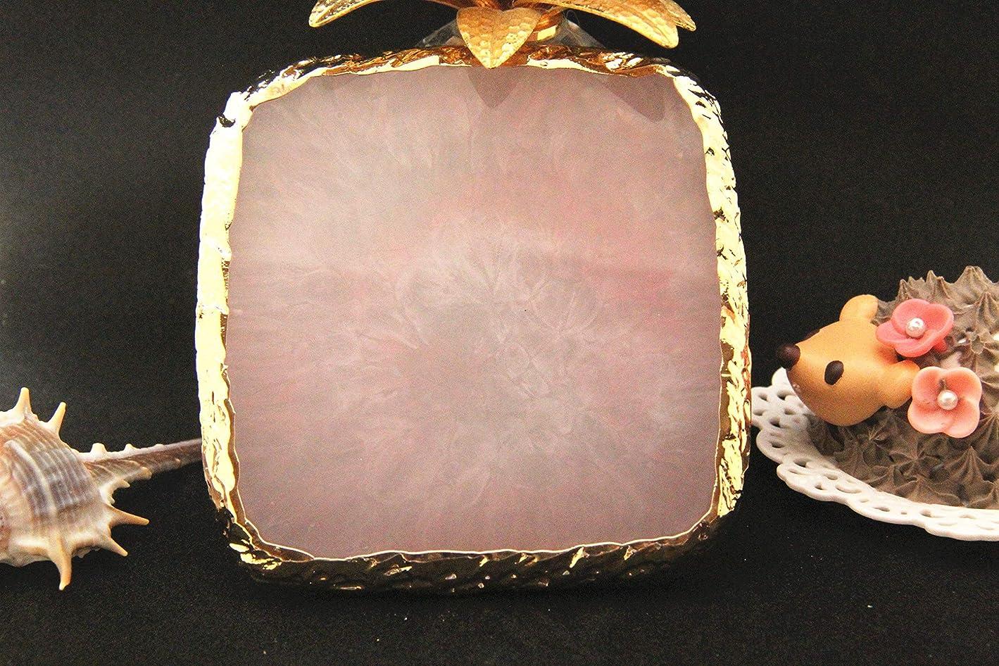 バランスヤング着実に003613Glitter Powderジェルネイル 方形 ネイル ジェルネイル パレット プレート ディスプレイ 天然石風 展示用 アゲートプレート デコ アクセサリー ジェルネイル (方形) (ピンク)