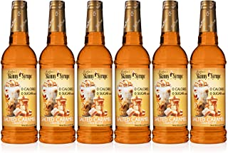 Jordan's Skinny Syrups Salted Caramel, Sugar Free Flavoring Syrup, 25.4 Ounce Bottle (Pack of 6)