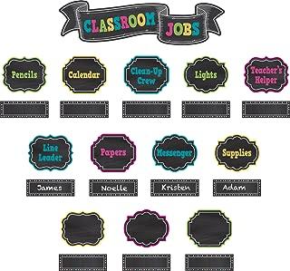 Teacher Created Resources Chalkboard Brights Classroom Jobs Mini Bulletin Board