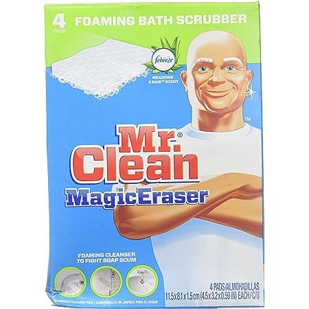 Mr. Clean Magic Eraser, Foaming Bath Scrubber - 4 pk