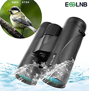 ESSLNB Compact Binoculars for Adults 8X42 IPX7 Waterproof Binoculars BAK4 Roof Prism Binoculars for Bird Watching Hunting