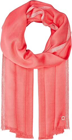 Calvin Klein Satin Pashmina with Lurex Border
