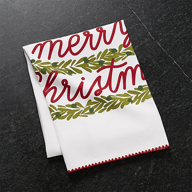 Christmas Tree Dish Towel | Crate and Barrel