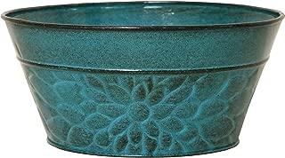 Robert Allen MPT02008 Laurel Series Metal Planter Flower Pots, 8