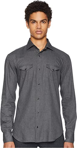 Brushed Wool Western Snap Shirt