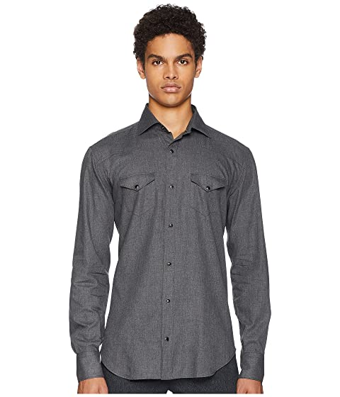 5b28e795 eleventy Brushed Wool Western Snap Shirt at Zappos.com
