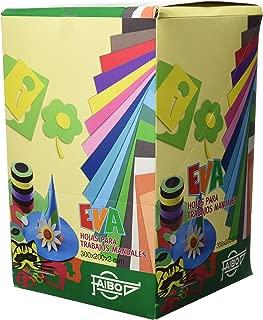 Faibo 653EXP - Expositor de 100 láminas de goma Eva formato 20 x 30 cm, 1 unidad