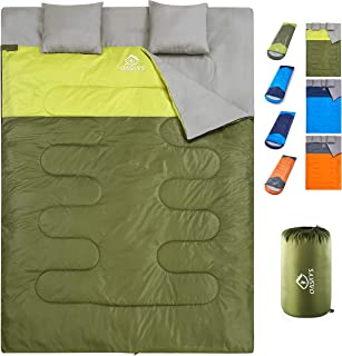 oaskys Camping Sleeping Bag - 3 Season Warm & Cool Weather - Summer, Spring, Fall, Lightweight, Waterproof for Adults & Ki...
