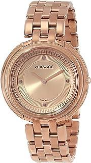 Versace - VA7050013 Thea Reloj de Acero Inoxidable Chapado en Oro Rosa con Pulsera de eslabones