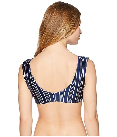 Swim Blue Stripe Top Waves Long Medieval Urban Roxy Regular Vertical Tri w06qA8avc