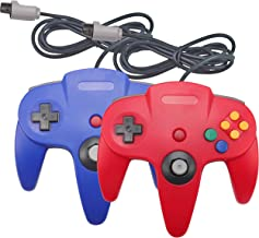 Joxde Wired Controller for N64, 2 Pack Retro Nintendo 64 Gaming Gamepad Joystick for N64 System Video Game Console(Blue and Red)