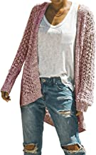 Womens Long Shrug Cardigan Lightweight Open Front Knit Sweater Fall Coat Outerwear