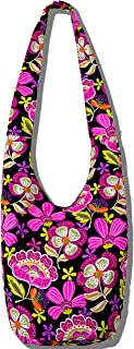 Hippie Crossbody Bag Thai Top Zip Hobo Sling Bag Handmade Hipster Messenger Bag