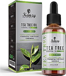 Kanzy Huile Essentielle Tea Tree Bio 60ml Naturelle Vegan Huile Arbre à Thé pour le Visage, Ongles et les Soins de la peau...