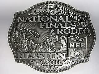 Hesston 2011 National Finals Rodeo NFR Adult Belt Buckle, New, Wrangler