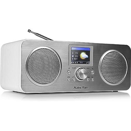 Audioaffairs Ir 010 Internetradio Mit Bluetooth Dab Digitalradio Mit Akku Lc Farbdisplay Senderspeicher Wlan Radio Powerbank Aux In Weiß Heimkino Tv Video