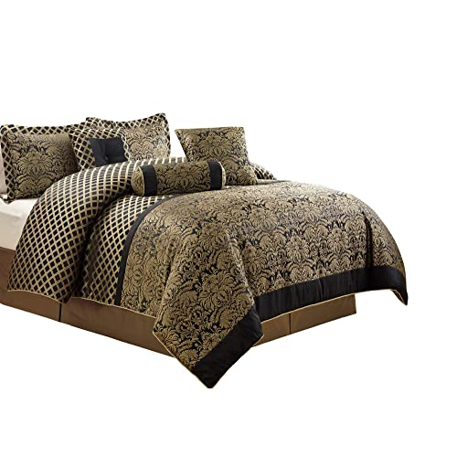 Black And Gold Comforter Set Amazon Com