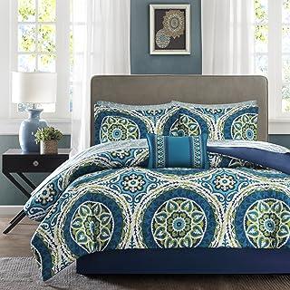 Madison Park Essentials Cozy Bed In a Bag Comforter Set, Medallion Damask Design All Season Down Alternative Bed Set with ...
