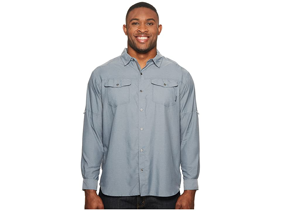 Columbia Big Tall Pilsner Peak II Long Sleeve Shirt (Grey Ash) Men