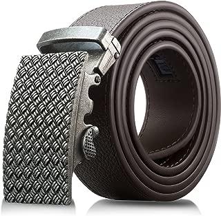 Men's Genuine Leather Belt- Ratchet Black Dress Belts for Men with Automatic Buckle.…