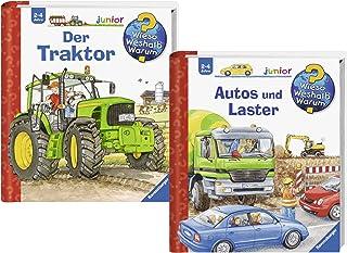 TIPTOI Ravensburger Kit de Livres Junior–Pourquoi? Pourquoi? Pourquoi? Voitures et Vices et Le Tracteur