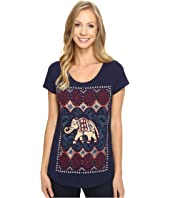 Lucky Brand - Dotted Elephant Tee