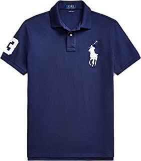 Mens Custom Slim Fit Big Pony Logo Polo Shirt