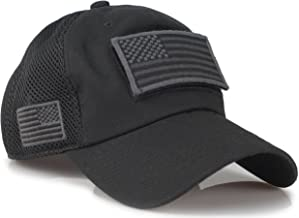 Sox Market Camouflage Constructed Trucker Special Tactical Operator Forces USA Flag Patch Baseball Cap