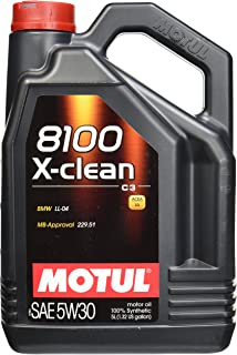Motul (2020) 8100 X-Clean 5W-30 Synthetic Engine Oil, 5 Liter