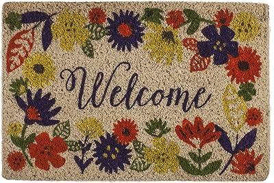 Entryways Solstice Handwoven Coconut Fiber Doormat, Coir, Multi-Colour, 60 x 1.3 x 40 cm