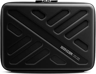 iBenzer Bumptect Pro 13 Inch Shockproof & Water-Resistant EVA Hard Shell Protective Sleeve Case Cover for 13.3 Laptop, MacBook Air, MacBook Pro, Surface, Ultrabook, Black LS-BPP-0113BK