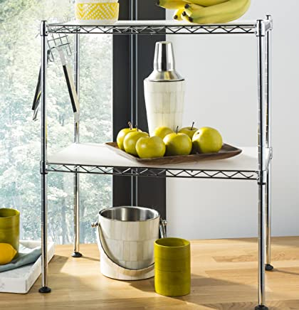happimess HPM5013A Racking, 19.69 in. W x 11.81 in. D x 23.62 in. H, Silver