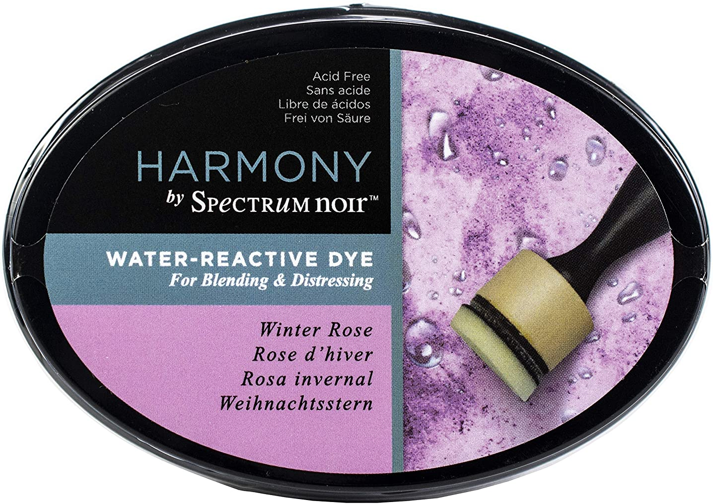 Crafter's Companion SNIPHWR-WROS Spectrum Noir Harmony Water Reactive Ink Pad-Winter Rose,